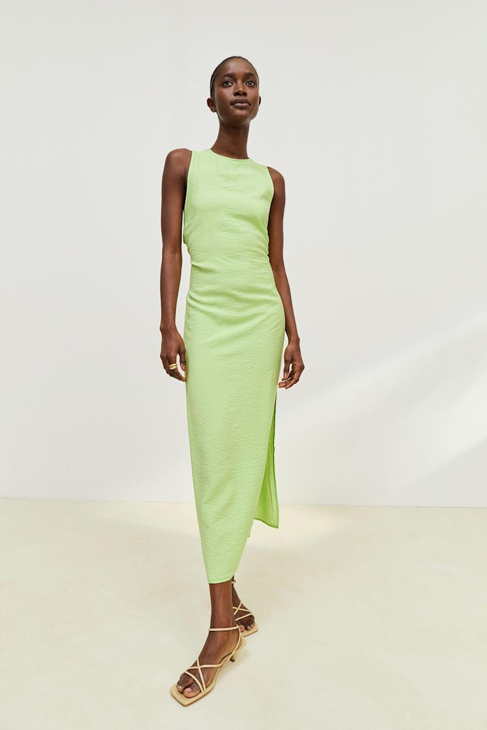 <p>This <span>Slit-detail Dress</span> ($30, originally $35) is ready for your jazz concert, museum night, or al fresco dinner.</p>