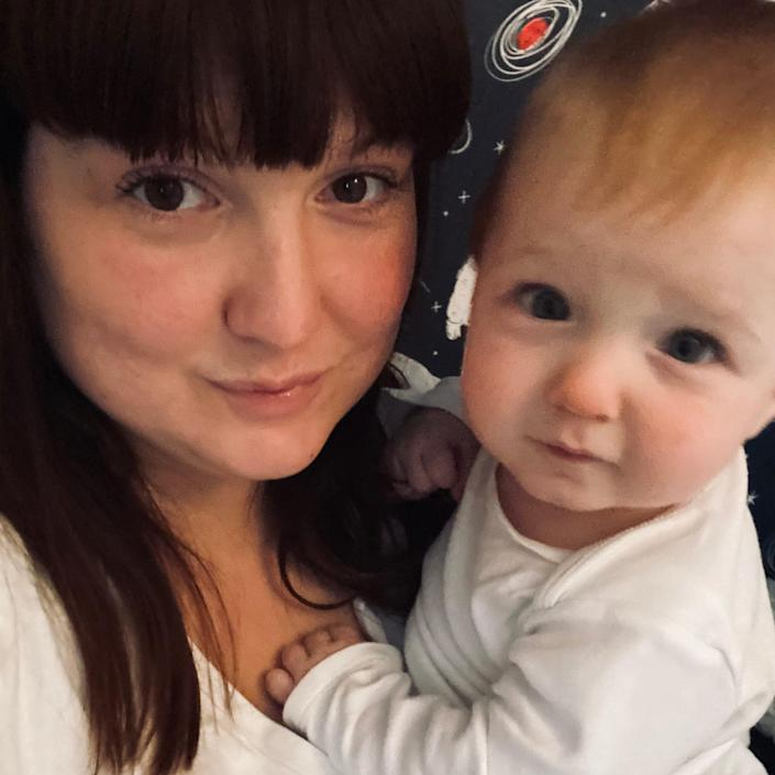 Joanne Patch and her son Arthur, who was born a few weeks before the first lockdown