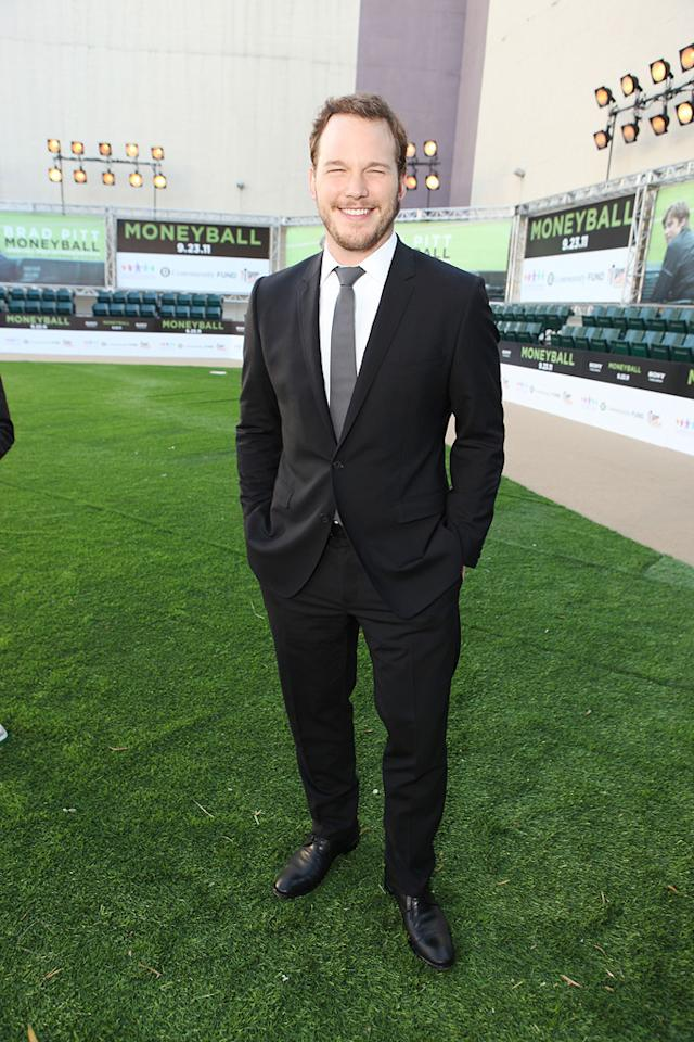 "<a href=""http://movies.yahoo.com/movie/contributor/1808880348"">Chris Pratt</a> at the Oakland premiere of <a href=""http://movies.yahoo.com/movie/1810166670/info"">Moneyball</a> on September 19, 2011."