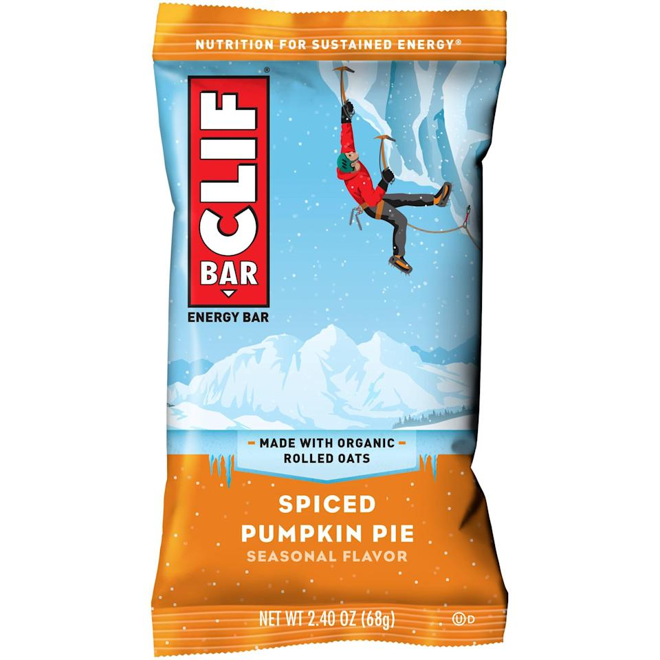 <p>If you're moving, reach for this <span>Clif Bar Spiced Pumpkin Pie</span> ($20 for 12). It's hearty and comforting, making it a great on the go snack.</p>