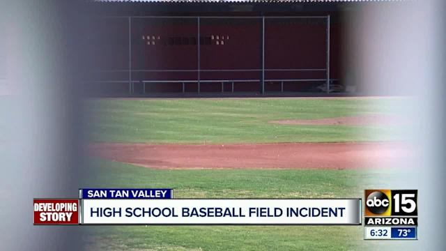 An incident that occurred on the baseball field of Combs High School is being investigated by the Pinal County Sheriff's Office.