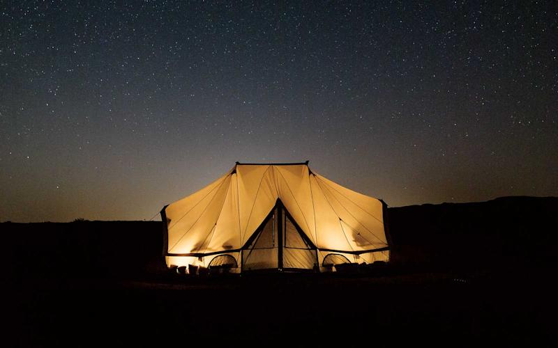 A Bedouin-style tent set up by the luxury camping company Canvas Club. | Stefan Ruiz