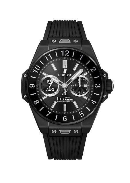 """<p>Big Bang e</p><p><a class=""""link rapid-noclick-resp"""" href=""""https://www.hublot.com/en-us/news/hublot-big-bang-e"""" rel=""""nofollow noopener"""" target=""""_blank"""" data-ylk=""""slk:SHOP"""">SHOP</a><br><br>Following its 2018 FIFA World Cup smartwatch, Hublot has produced a second watch running Wear OS. The Big Bang e comes in two versions: titanium, with a retail price around £4,200, and black ceramic, priced around £4,500. Both feature a 42mm OLED high-definition touchscreen covered with sapphire crystal, and 8GB of storage. In addition to the 'time only' analogue function, the Big Bang e features interpretations of traditional watch complications, including one that tracks the lunar calendar and another that changes colour over the course of the day, as part of the #HublotLovesArt initiative.</p><p>From £4,200; <a href=""""https://www.hublot.com/en-gb/"""" rel=""""nofollow noopener"""" target=""""_blank"""" data-ylk=""""slk:hublot.com"""" class=""""link rapid-noclick-resp"""">hublot.com</a><br></p>"""