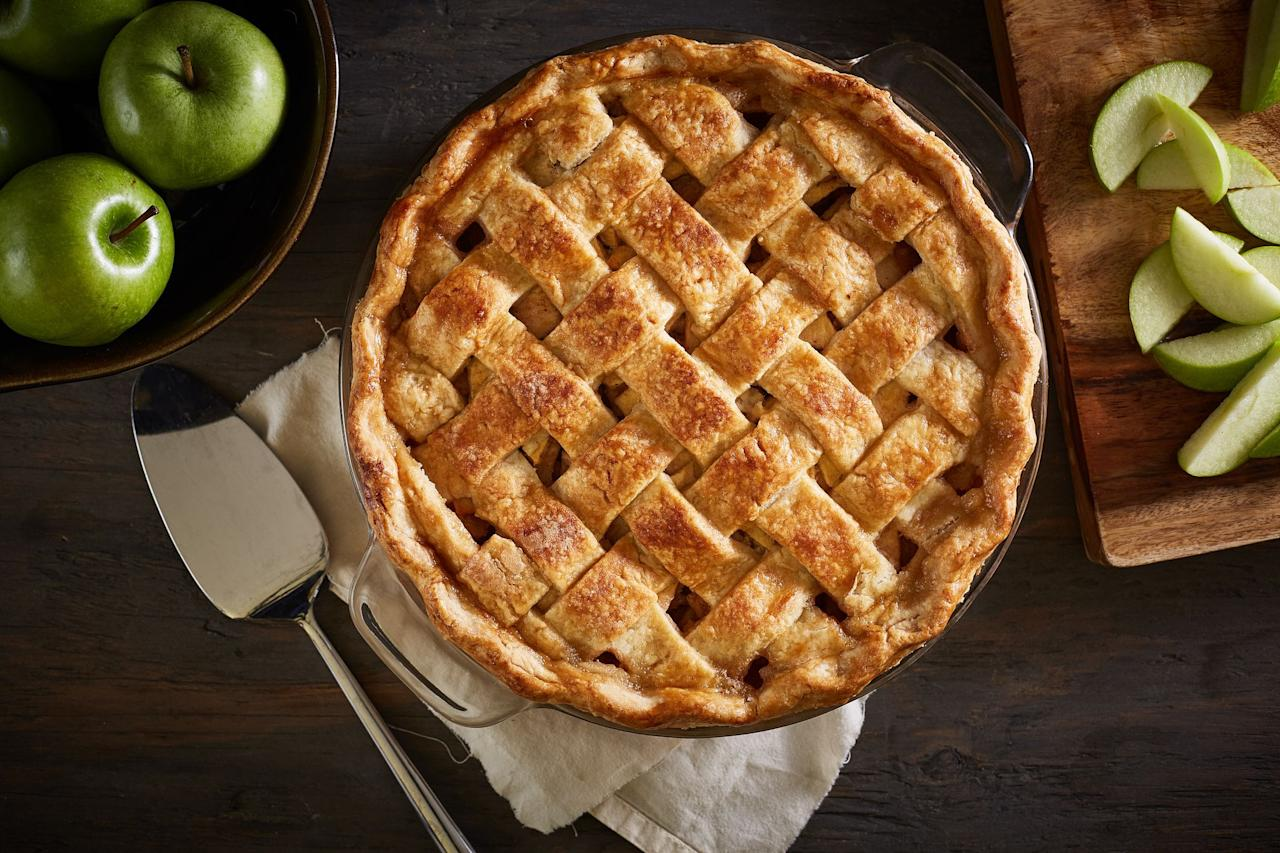 """<p>""""Bake a <a href=""""https://www.countryliving.com/food-drinks/g974/pumpkin-pie-recipes/"""">homemade pie</a>"""" should be on your fall bucket list this year—and with good reason! We've rounded up the best apple pie recipes so you can win <a href=""""https://www.countryliving.com/food-drinks/g637/thanksgiving-menus/"""">Thanksgiving dinner</a>, earn the trust of your most discerning guests, or just enjoy the fruits of a day spent <a href=""""https://www.countryliving.com/life/travel/g2623/apple-picking/"""">apple picking</a>. After all, you don't need <a href=""""https://www.countryliving.com/food-drinks/g1395/best-thanksgiving-recipes/"""">a special occasion </a>to enjoy a <a href=""""https://www.countryliving.com/food-drinks/g975/apple-dessert-recipes/"""">delectable dessert</a>. <a href=""""https://www.countryliving.com/food-drinks/g1903/slow-cooker-recipes/"""">Any weeknight meal </a>can be upgraded with the addition of a warm slice of apple pie (topped with a cold scoop of <a href=""""https://www.countryliving.com/food-drinks/recipes/a3404/vanilla-ice-cream-recipe-clv0610/"""">vanilla ice cream</a>, of course!). These easy apple pie recipes can be made by bakers at any experience level, and they're sure to satisfy every sweet tooth in your family. From classic, <a href=""""https://www.countryliving.com/food-drinks/g650/apple-recipes/"""">traditional recipes</a> to more newfangled options (apple pie taquitos or <a href=""""https://www.countryliving.com/food-drinks/g3604/gingerbread-cookie-recipes/"""">gingerbread</a> apple pie, anyone?), there really is something here for everyone. Bite-sized, miniature pies abound too, in case you're looking for an easily transportable option for a <a href=""""https://www.countryliving.com/food-drinks/g643/delectable-holiday-appetizers-1208/"""">holiday party</a> or outdoor picnic, but we've also made sure to include a ton of full-size options so that you can enjoy pie <a href=""""https://www.countryliving.com/food-drinks/g938/best-pie-recipes-0510/"""">the way your grandma would've made it</"""