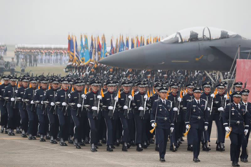 FILE PHOTO: 71st Armed Forces Day in South Korea