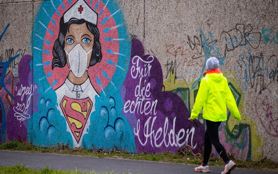 Street art in HammStreet art in Hamm, a city that suffered an intense spike - Getty