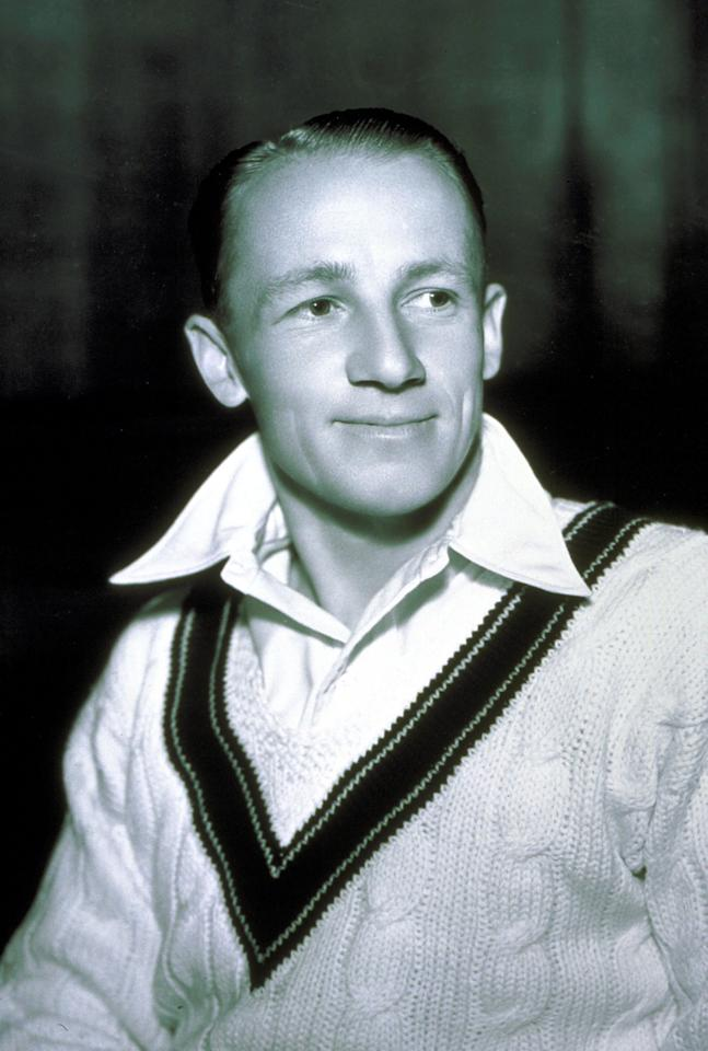 1 Oct 1934: Sir Donald Bradman of Australia in his test kit, Australia. Mandatory Credit: Allsport Australia/ALLSPORT