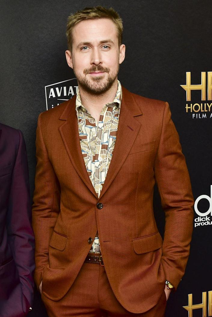 """<p>Now: From The Notebook to Gangster Squad to La La Land, Gosling has had a <a href=""""https://www.imdb.com/name/nm0331516/?ref_=tt_cl_t7"""" rel=""""nofollow noopener"""" target=""""_blank"""" data-ylk=""""slk:varied and vast film career"""" class=""""link rapid-noclick-resp"""">varied and vast film career</a> that spans almost 25 years. He is a Golden Globe winner with more than 20 acting awards under his belt, and has been named one of the<a href=""""https://www.forbes.com/pictures/599b0ba431358e60d7768f66/14-ryan-gosling/#ef7376517638"""" rel=""""nofollow noopener"""" target=""""_blank"""" data-ylk=""""slk:highest-paid actors in the world"""" class=""""link rapid-noclick-resp""""> highest-paid actors in the world</a>.</p>"""