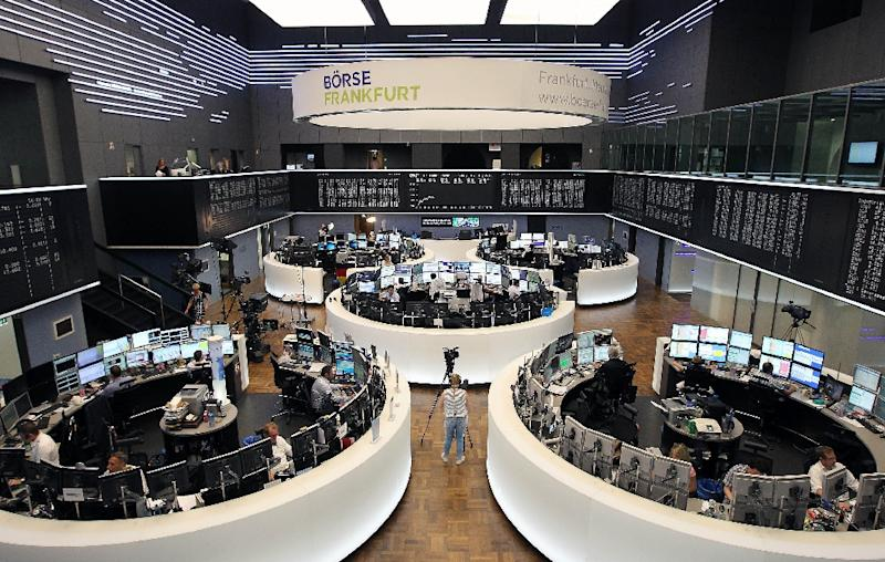 In Frankfurt, the DAX index eased 0.1 percent