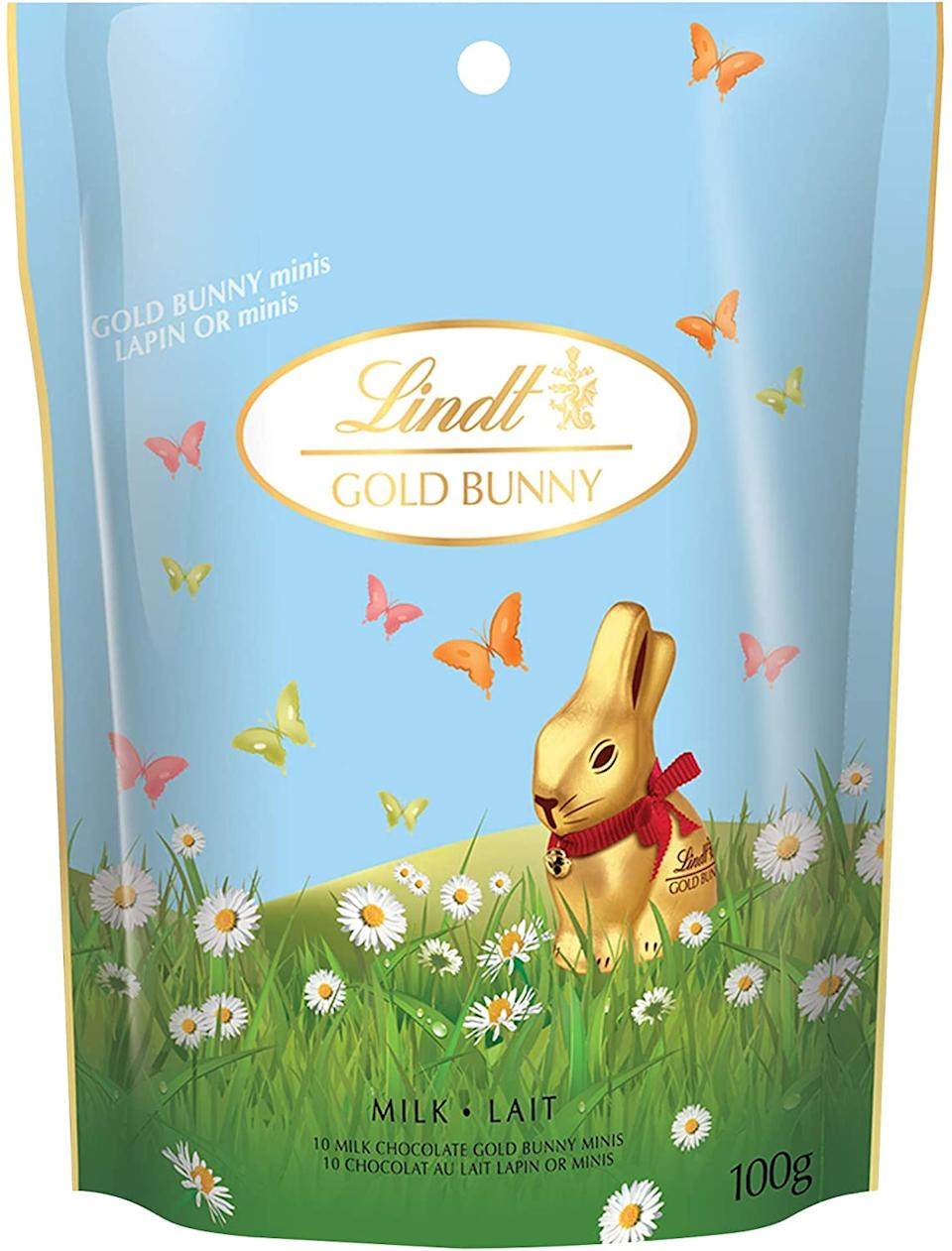 Lindt Miniature Milk Chocolate Easter Gold Bunny. Image via Amazon.