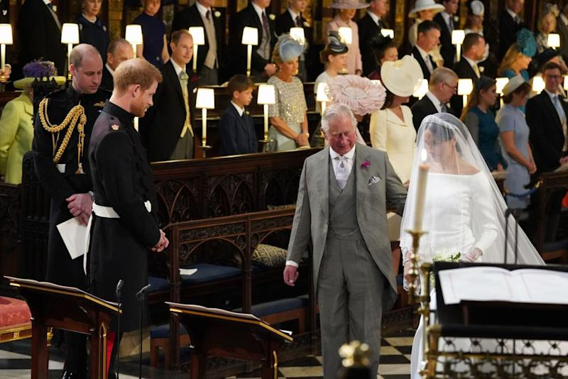 Prince Harry, Prince Charles and Meghan Markle