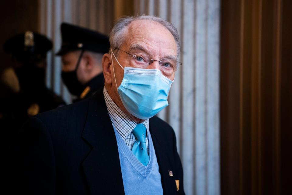 Sen. Chuck Grassley (R-Iowa) has conjured a phantom attack on the White House that the Secret Service says never happened. (Photo: Tom Williams via Getty Images)