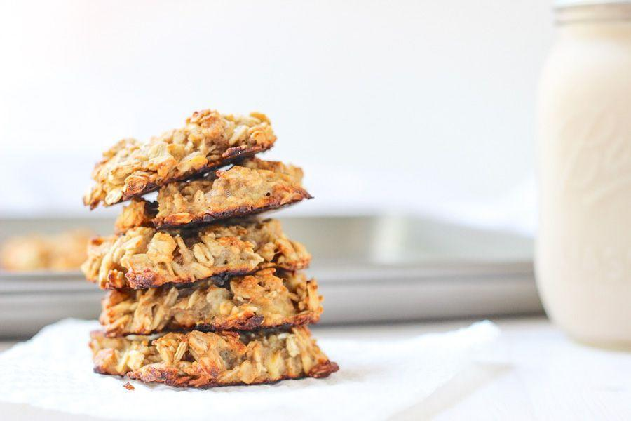 """<p>Cookies for breakfast? Yes, please! These 3-ingredient delights only take 15 minutes to make. </p><p><strong>Get the recipe at <a href=""""https://marisamoore.com/peanut-butter-banana-breakfast-cookies/"""" rel=""""nofollow noopener"""" target=""""_blank"""" data-ylk=""""slk:Marisa Moore"""" class=""""link rapid-noclick-resp"""">Marisa Moore</a>. </strong></p><p><a class=""""link rapid-noclick-resp"""" href=""""https://go.redirectingat.com?id=74968X1596630&url=https%3A%2F%2Fwww.walmart.com%2Fsearch%2F%3Fquery%3Dcookie%2Bsheets&sref=https%3A%2F%2Fwww.thepioneerwoman.com%2Ffood-cooking%2Fmeals-menus%2Fg37115017%2Fhealthy-cookie-recipes%2F"""" rel=""""nofollow noopener"""" target=""""_blank"""" data-ylk=""""slk:SHOP COOKIE SHEETS"""">SHOP COOKIE SHEETS</a></p>"""