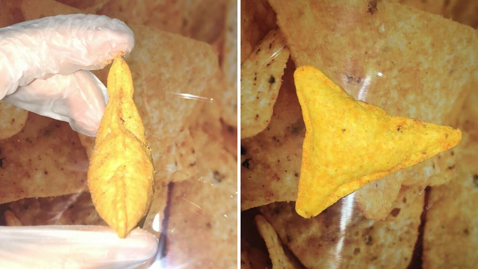 Images of puffy Dorito chip