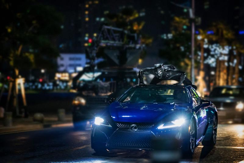 The Lexus LC in South Korea, with T'Challa onboard, during the film.