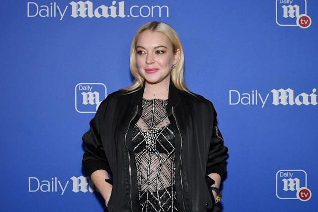 Lindsay Lohan at a NYC event in 2017. (Photo: Slaven Vlasic/Getty Images for Daily Mail)