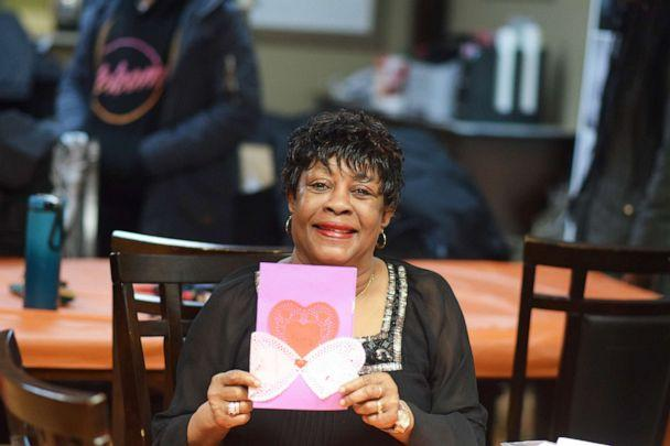 PHOTO: Students from Charles Hart Middle School surprised the seniors at Colony House, a senior home in Washington, D.C., with personalized valentines on Feb. 13, 2019. (Richard Williams/DACL)