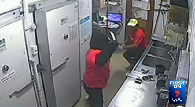 The intruder raised a large knife to Mr Shukla, who fought back with a box cutter. Photo: 7 News