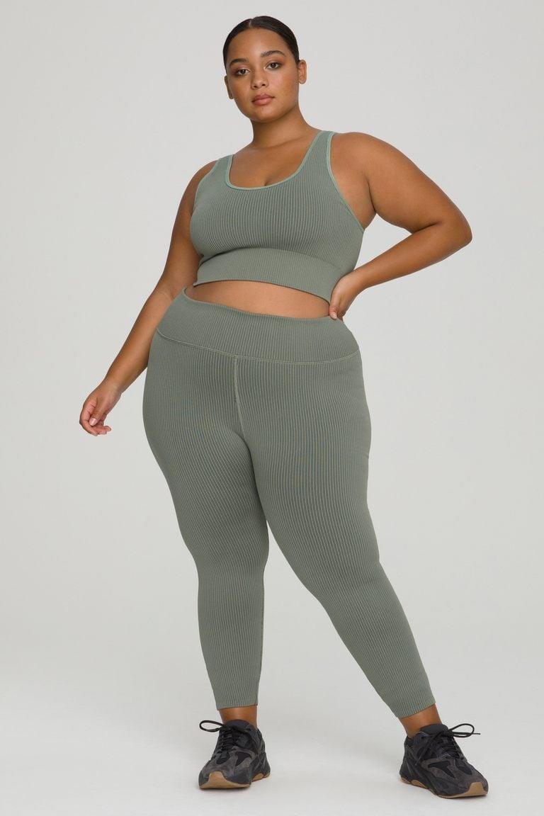 <p>We're all about a matching set, and we can't get enough of the color of this <span>Good American Active Essential Ribbed Leggings</span> ($79) and <span>Active Essential Ribbed Bra</span> ($45).</p>