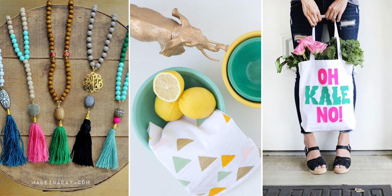 """<p><span>You don't need to spend a ton of moolah to make your momma happy this Mother's Day. Make one of these unique craft ideas and we promise she'll love it much more than any store-bought gift. (Although we do have <a rel=""""nofollow"""" href=""""http://www.drozthegoodlife.com/healthy-lifestyle/relationships-pets/tips/g363/cheap-mothers-day-gifts/"""">some good ones</a>.)<span></span></span></p>"""