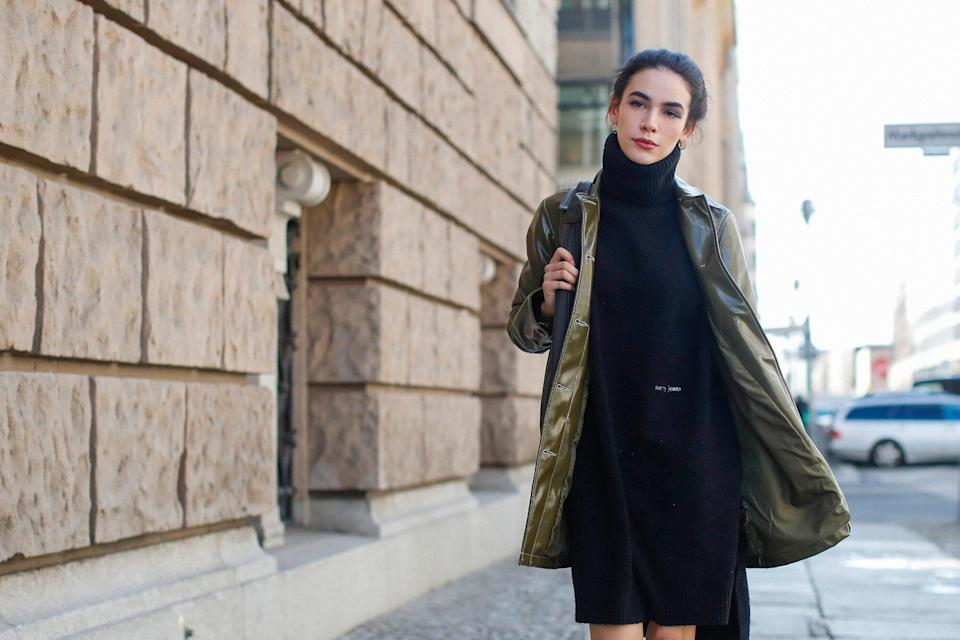 This Comfortable Sweater Dress From Amazon Is Just In Time For Fall