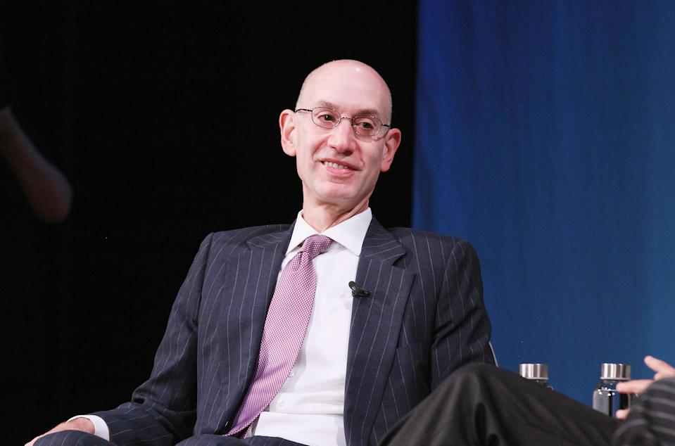 NBA commissioner Adam Silver said he wasn't disappointed after the WNBA players opted out of their current CBA, and that he plans to work with both sides to find positive results. (Bennett Raglin/Getty Images)