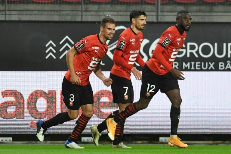 Damien Da Silva and Nayef Aguerd got the goals as Rennes came from behind to beat Brest 2-1 in Ligue 1 on Saturday