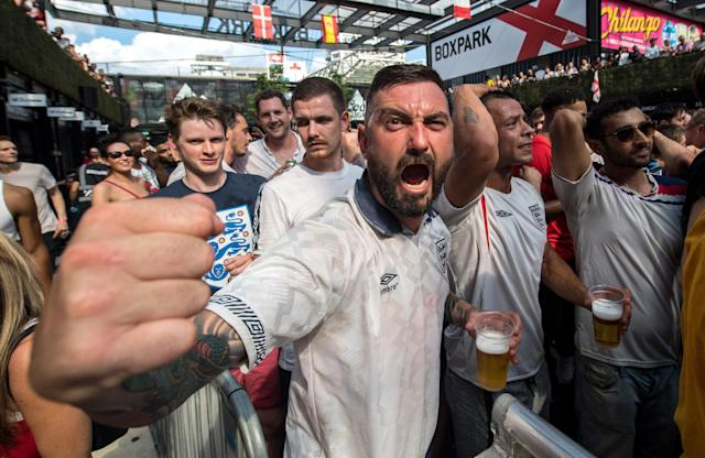 Boxpark Croydon was packed as England beat Sweden