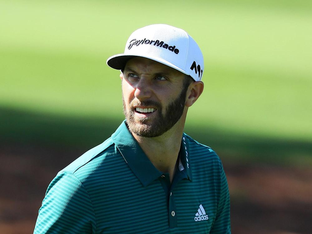 Dustin Johnson could now miss the Masters after a fall at his rental home: Getty