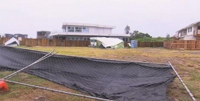 Fences and roofs lie broken after gale force winds in NSW. Photo: 7News