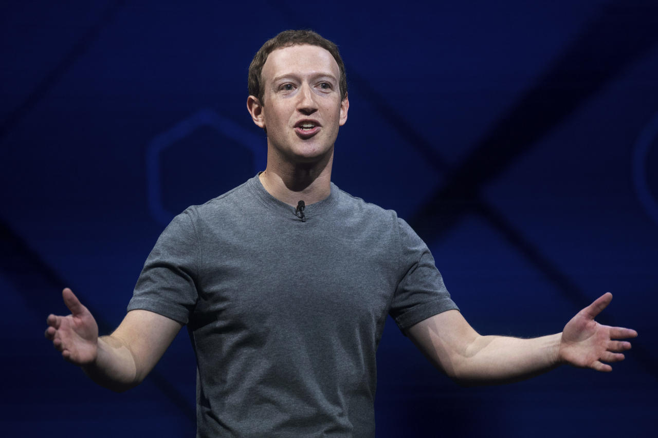 <p> FILE - In this April 18, 2017 file photo, Facebook CEO Mark Zuckerberg speaks at his company's annual F8 developer conference in San Jose, Calif. Zuckerberg wrote in a Facebook post on May 21, 2017, that he's not running for public office. (AP Photo/Noah Berger, File) </p>