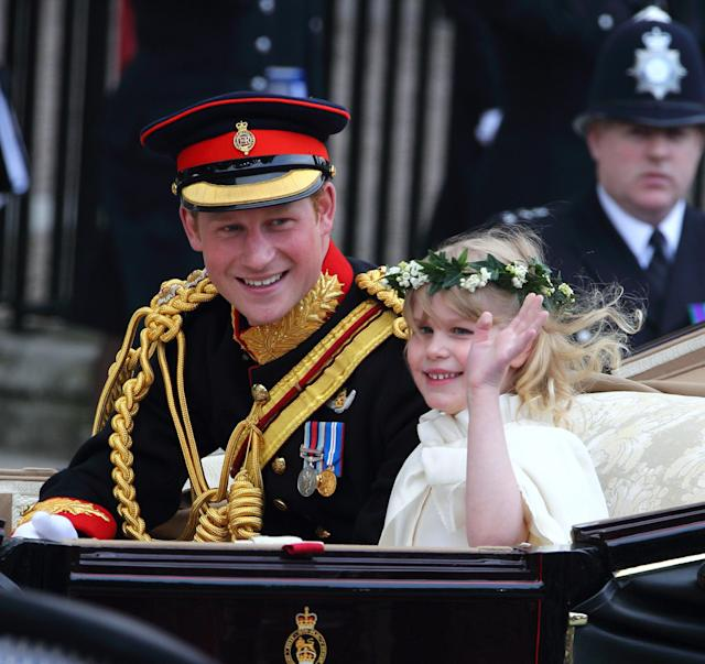 Prince Harry and Lady Louise at William and Kate's wedding (Getty)