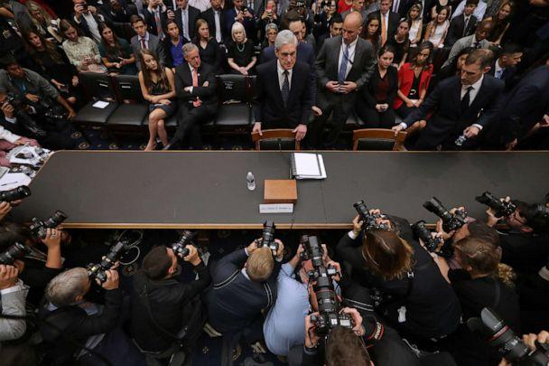 PHOTO: WFormer Special Counsel Robert Mueller arrives before testifying to the House Judiciary Committee about his report on Russian interference in the 2016 presidential election in the Rayburn House Office Building in Washington, D.C., July 24, 2019. (Chip Somodevilla/Getty Images, FILE)