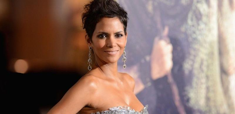 Halle Berry poses at an event