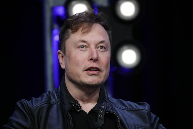 Elon Musk, Founder and Chief Engineer of SpaceX, speaks during the Satellite 2020 Conference in Washington, DC. Photo: Getty