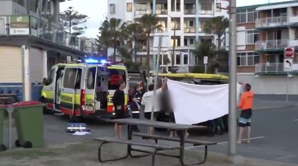 The victim died at the scene. It's the first fatal shark attack at a Gold Coast beach since 1958.