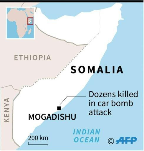 Map of Somalia locating Mogadishu