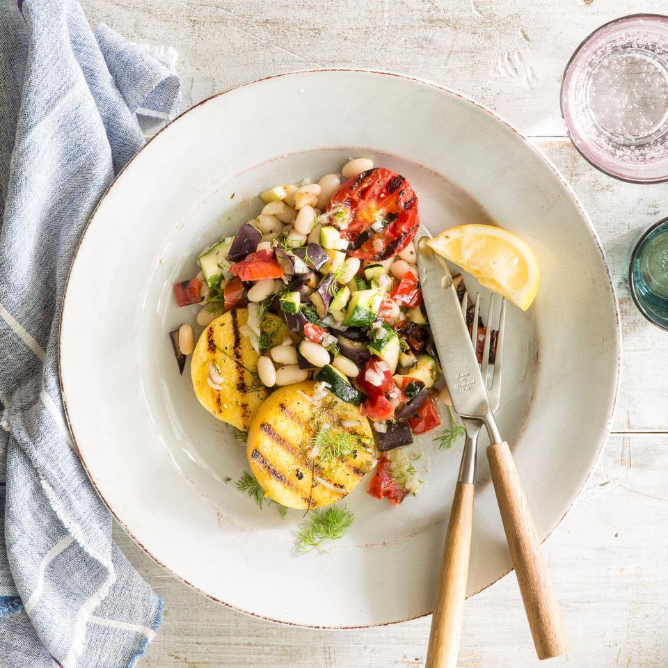 <p>This healthy grilled vegetarian dinner recipe is super-flexible: substitute any fresh vegetables you have on hand.</p>