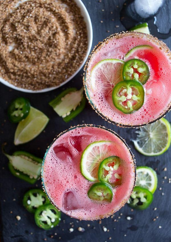 """<p>Your next Taco Tuesday needs these margs.</p><p>Get the recipe from <a href=""""https://www.nutmegnanny.com/jalapeno-watermelon-margarita/"""" rel=""""nofollow noopener"""" target=""""_blank"""" data-ylk=""""slk:Nutmeg Nanny"""" class=""""link rapid-noclick-resp"""">Nutmeg Nanny</a>.</p>"""