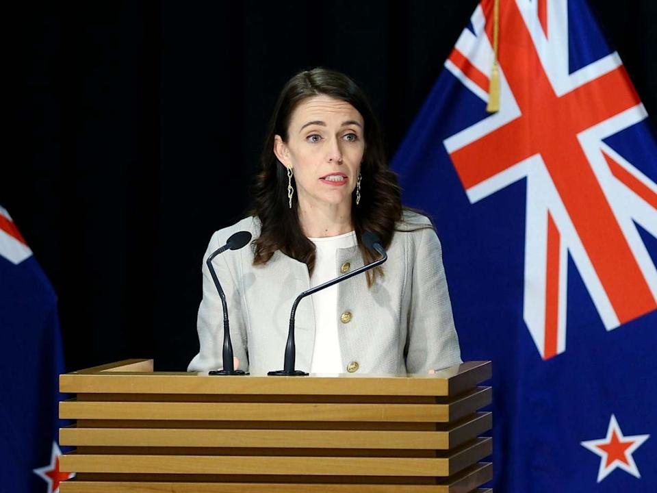 Ardern announced the extension at a press conference on Friday: Getty