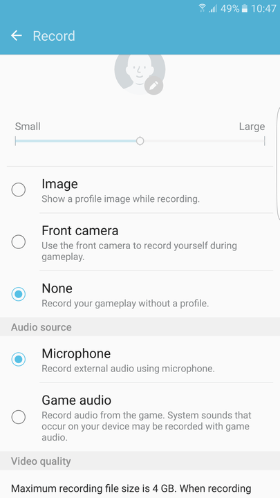 galaxy s tips and tricks record game