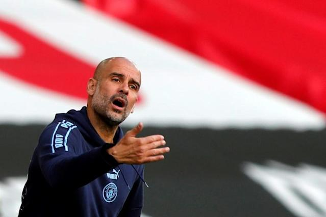 Manchester City manager Pep Guardiola has urged his side to cut out mistakes (AFP Photo/Frank Augstein)