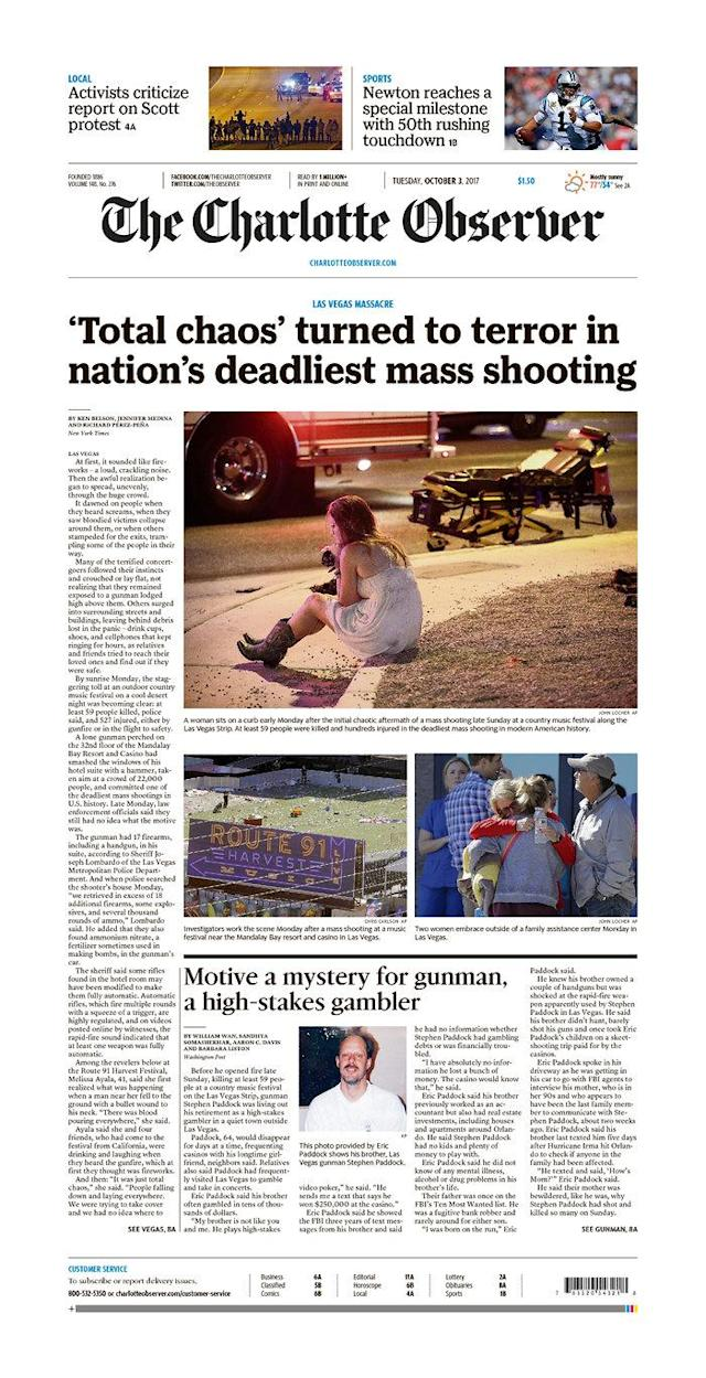 "<p>""The Charlotte Observer,"" published in Charlotte, N.C. (newseum.org) </p>"