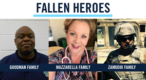 """""""Nurse Manager Kelly Mazzarella, Texas Department of Corrections Officer Jonathon 'Keith"""" Goodman, and U.S. Army reservist Sgt. Simon Zamudio all lost their lives to COVID-19."""""""