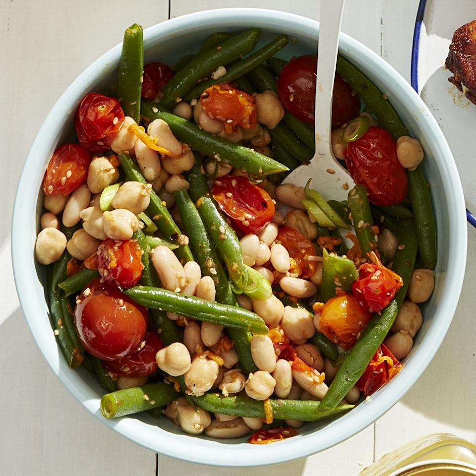 "<p>This bean salad takes on a delicious flavor with homemade vinaigrette.<em><a href=""https://www.womansday.com/food-recipes/food-drinks/a27484467/three-bean-salad-recipe/"" target=""_blank""><br></a></em></p><p><em><a href=""https://www.womansday.com/food-recipes/food-drinks/a27484467/three-bean-salad-recipe/"" target=""_blank"">Get the recipe for Three-Bean Salad.</a></em></p>"