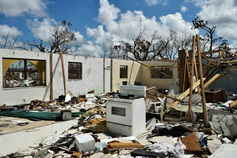 A home destroyed by Hurricane Dorian in Freeport, Grand Bahama