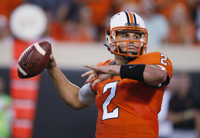 Oklahoma State quarterback Mason Rudolph had only four incompletions on 24 attempts in Thursday's victory. (AP)