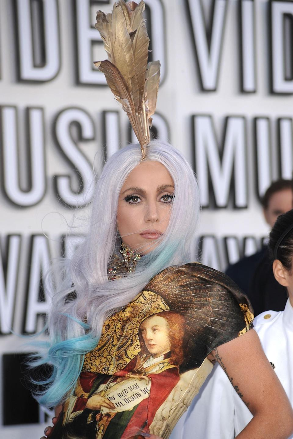 It was all about ombre in 2010, but Lady Gaga's white and blue version took things to a whole new level.