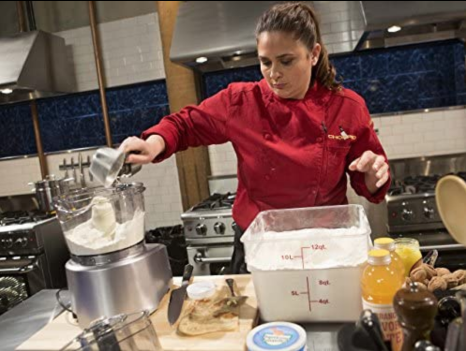"""<p>Ever wonder how the chefs are able to hastily use that thermo-freeze ice cream maker? The show teaches them <a href=""""https://www.insider.com/chopped-facts-secrets-2018-6"""" rel=""""nofollow noopener"""" target=""""_blank"""" data-ylk=""""slk:how to use the equipment"""" class=""""link rapid-noclick-resp"""">how to use the equipment</a> on set prior to filming.</p>"""