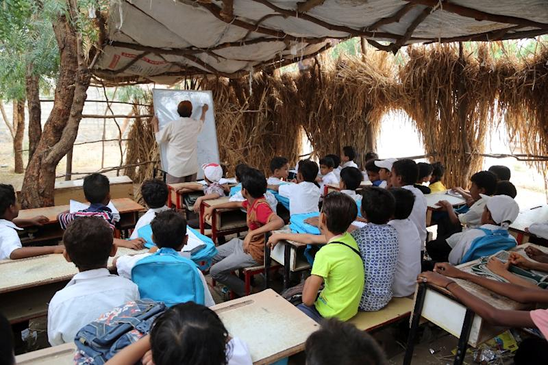 Fighting in Yemen has halted the education of nearly two million children on top of the 1.6 million already out of school before the conflict (AFP Photo/STRINGER)